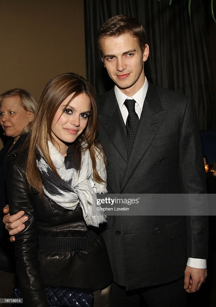 Actors Rachel Bilson and Hayden Christensen attend the after party for the premiere of 'Jumper' at Strata on February 11, 2008 in New York City.