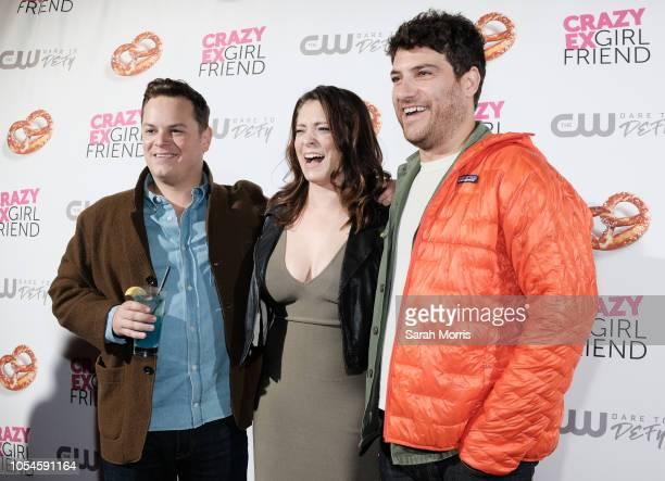 Actors Rachel Bloom and Adam Pally attend the 'Crazy ExGirlfriend' season 4 premiere party at El Cid on October 13 2018 in Los Angeles California