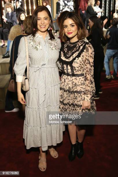 Actors Rachel Bloom and Lucy Hale attend the Kate Spade presentation during New York Fashion Week The Shows on February 9 2018 in New York City