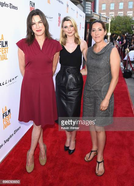 Actors Rachel Crowl Tania Nolan and filmmaker Savannah Bloch attend the opening night premiere of Focus Features' The Book of Henry during the 2017...