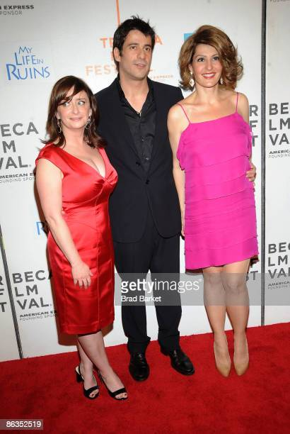 "Actors Rachel Dratch, Alexis Georgoulis, and Nia Vardalos, and attend the premiere of ""My Life in Ruins"" during the 2009 Tribeca Film Festival at..."