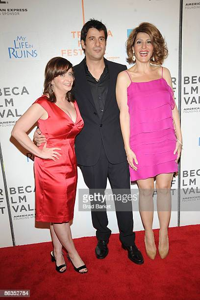 "Actors Rachel Dratch, Alexis Georgoulis, and Nia Vardalos attend the premiere of ""My Life in Ruins"" during the 2009 Tribeca Film Festival at BMCC..."