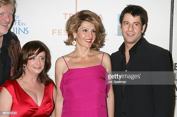 "Actors Rachel Dratch, Nia Vardalos and Alexis Georgoulis attend the premiere of ""My Life in Ruins"" during the 8th Annual Tribeca Film Festival at..."