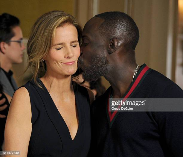Actors Rachel Griffiths and Michael Kenneth Williams arrive at the 2017 Winter TCA Tour Disney/ABC at the Langham Hotel on January 10 2017 in...