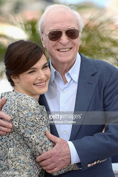 Actors Rachel Weisz and Michael Caine attend the Youth Photocall during the 68th annual Cannes Film Festival on May 20 2015 in Cannes France