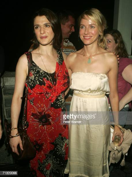 Actors Rachel Weisz and Naomi Watts attend the after party for the opening night of Shakespeare in the Park's Macbeth hosted by The Public Theatre at...