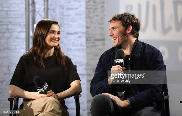 Actors Rachel Weisz and Sam Claflin from the cast of 'My Cousin Rachel' speak at the Build LDN event at AOL London on June 8 2017 in London England