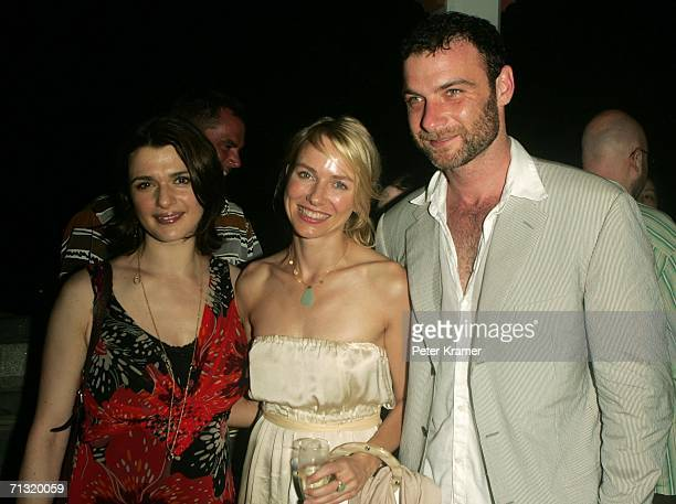 Actors Rachel Weisz Naomi Watts and Liev Schreiber attend the after party for the opening night of Shakespeare in the Park's Macbeth hosted by The...