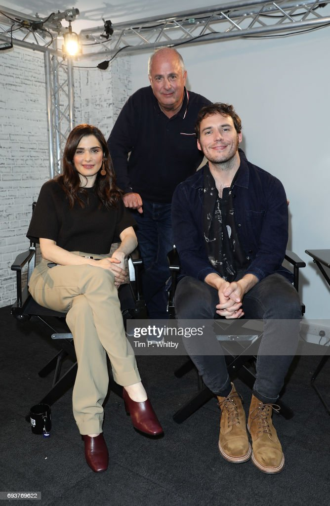 Actors Rachel Weisz, Sam Claflin and Director Roger Michell from the cast of 'My Cousin Rachel' pose for a photo at the Build LDN event at AOL London on June 8, 2017 in London, England.