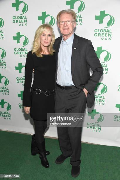 Actors Rachelle Carson and Ed Begley Jr attend the 14th Annual Global Green Pre Oscar Party at TAO Hollywood on February 22 2017 in Los Angeles...