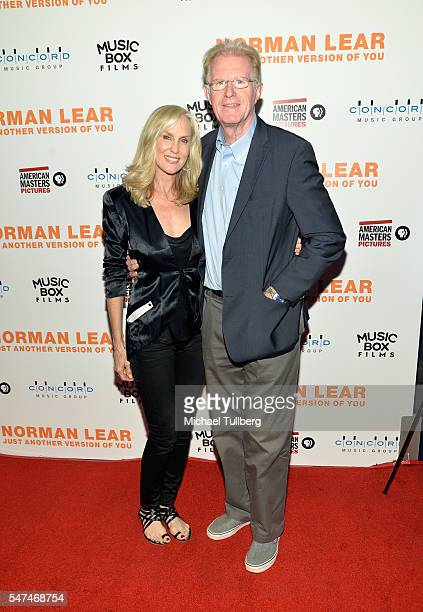 """Actors Rachelle Carson and Ed Begley Jr. Attend the premiere of Music Box Films' """"Norman Lear: Just Another Version Of You"""" at The WGA Theater on..."""