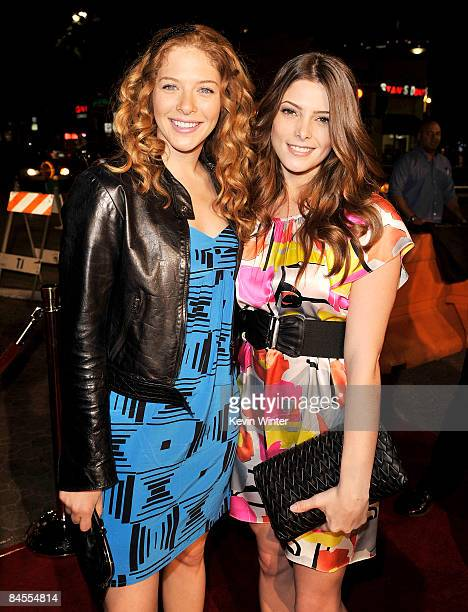 Actors Rachelle LeFevre and Ashley Greene pose at the premiere of Summit Entertainment's Push at the Mann Village Theater on January 29 2009 in Los...