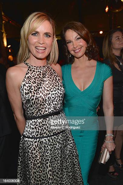 Actors Radha Mitchell and Ashley Judd attend the after party for the premiere of FilmDistrict's Olympus Has Fallen at Lure on March 18 2013 in...
