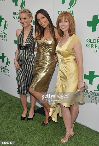 Actors Radha Mitchell , Rosario Dawson and Sharon Lawrence attend Global Green USA's 13th Annual Millennium Awards at the Fairmont Miramar Hotel on...