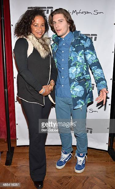 Actors Rae Dawn Chong and Ronen Rubinstein attend the When the Garden Was Eden Premiere after party during the 2014 Tribeca Film Festival at Hudson...