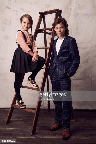 Actors Raegan Revord and Montana Jordan of CBS's 'Young Sheldon' pose for a portrait during the 2017 Summer Television Critics Association Press Tour...