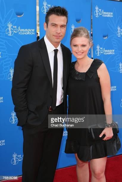Actors Rafael Amaya and Ana Layevska attend the 22nd Annual Imagen Awards at the Walt Disney Concert Hall on July 28 2007 in Los Angeles California
