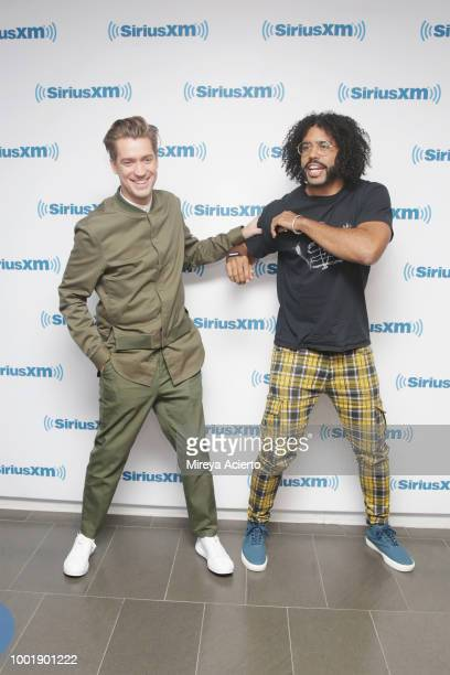 Actors Rafael Casal and Daveed Diggs visit SiriusXM Studios on July 19 2018 in New York City