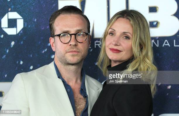 Actors Rafe Spall and Elize du Toit attend Men In Black International world premiere at AMC Loews Lincoln Square 13 on June 11 2019 in New York City