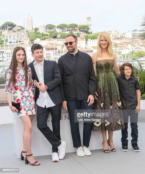 Actors Raffey Cassidy Barry Keoghan director Yorgos Lanthimos and actressess Nicole Kidman Sunny Suljic attend the The Killing Of A Sacred Deer...