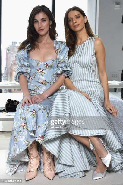 Actors Rainey Qualley and Angela Sarafyan attend the Brock Collection front row during New York Fashion Week The Shows at Gallery I at Spring Studios...