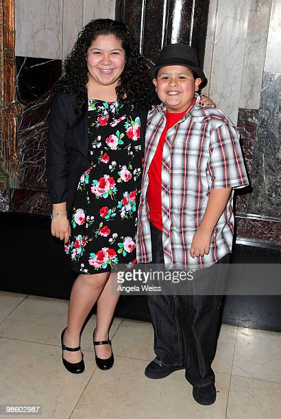 Actors Raini and Rico Rodriguez attends the opening night of 'Chicago' at the Pantages Theatre on April 21 2010 in Hollywood California