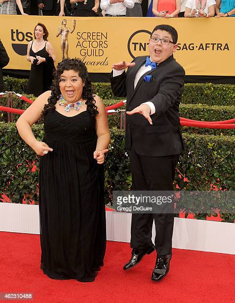 Actors Raini Rodriguez and Rico Rodriguez arrive at the 21st Annual Screen Actors Guild Awards at The Shrine Auditorium on January 25 2015 in Los...