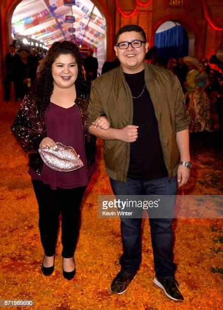 Actors Raini Rodriguez and Rico Rodriguez arrive at the premiere of Disney Pixar's 'Coco' at the El Capitan Theatre on November 8 2017 in Los Angeles...