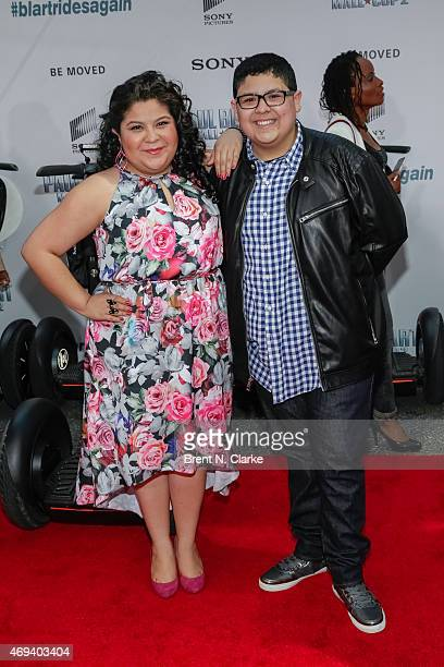 "Actors Raini Rodriguez and Rico Rodriguez arrive for the ""Paul Blart: Mall Cop 2"" New York Premiere at AMC Loews Lincoln Square on April 11, 2015 in..."