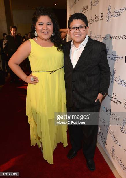 Actors Raini Rodriguez and Rico Rodriguez arrive to the 28th Annual Imagen Awards at The Beverly Hilton Hotel on August 16, 2013 in Beverly Hills,...