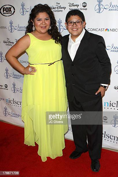 Actors Raini Rodriguez and Rico Rodriguez attend 28th Annual Imagen Awards at The Beverly Hilton Hotel on August 16 2013 in Beverly Hills California