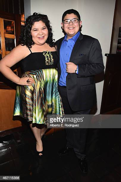 Actors Raini Rodriguez and Rico Rodriguez attend Entertainment Weekly's celebration honoring the 2015 SAG awards nominees at Chateau Marmont on...