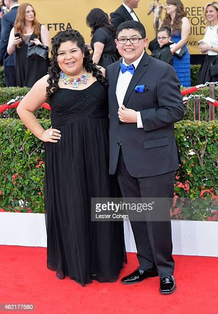 Actors Raini Rodriguez and Rico Rodriguez attend the 21st Annual Screen Actors Guild Awards at The Shrine Auditorium on January 25, 2015 in Los...