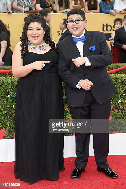 Actors Raini Rodriguez and Rico Rodriguez attend the 21st Annual Screen Actors Guild Awards at The Shrine Auditorium on January 25 2015 in Los...