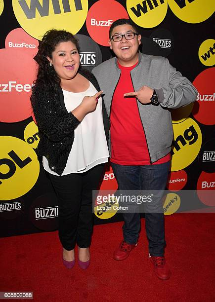 Actors Raini Rodriguez and Rico Rodriguez attend The Buzzies BuzzFeed's PreEmmy party produced by PenPublic at HYDE Sunset Kitchen Cocktails on...