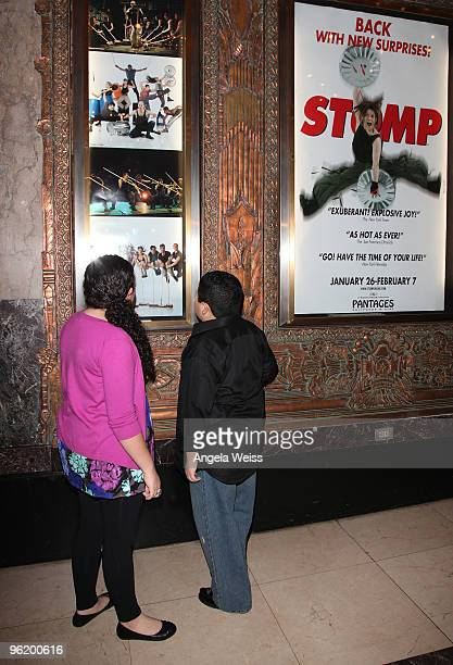 Actors Raini Rodriguez and Rico Rodriguez attend the opening night of 'STOMP' at the Pantages Theatre on January 26 2010 in Hollywood California