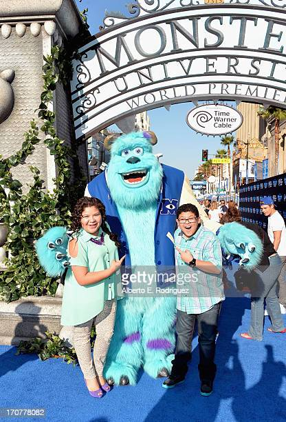 "Actors Raini Rodriguez and Rico Rodriguez attend The World Premiere & Tailgate Party for Disney-Pixar's ""Monsters University"" at the El Capitan..."