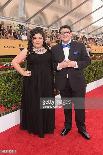 Actors Raini Rodriguez and Rico Rodriguez attend TNT's 21st Annual Screen Actors Guild Awards at The Shrine Auditorium on January 25, 2015 in Los...