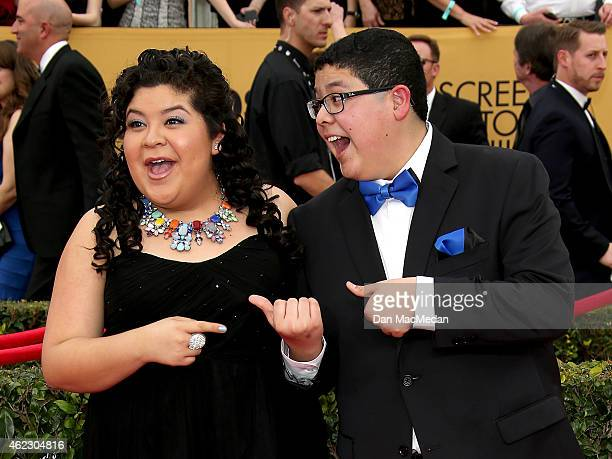 Actors Raini Rodriguez and Rico Rodriguez attend TNT's 21st Annual Screen Actors Guild Awards at The Shrine Auditorium on January 25 2015 in Los...