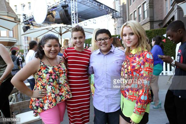 Actors Raini Rodriguez, Bailee Madison, Rico Rodriguez, and Taylor Spreitler attend Variety's Power of Youth presented by Hasbro, Inc. And...