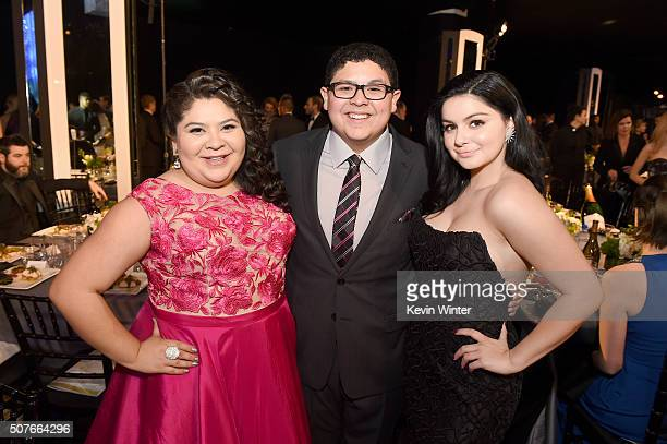 Actors Raini Rodriguez Rico Rodriguez and Ariel Winter attend The 22nd Annual Screen Actors Guild Awards at The Shrine Auditorium on January 30 2016...
