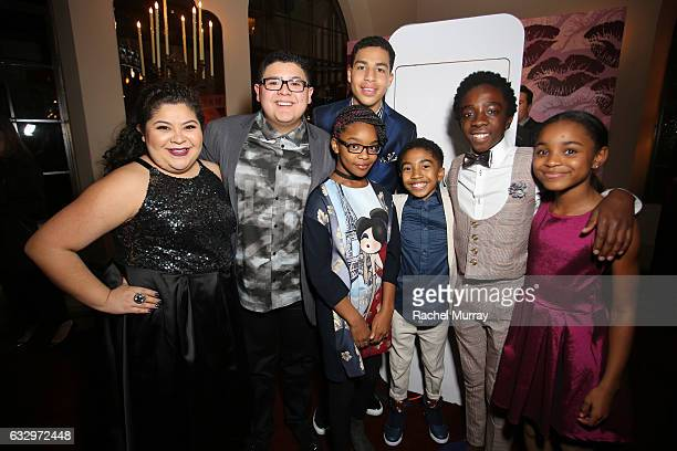 Actors Raini Rodriguez Rico Rodriguez Marcus Scribner Marsai Martin Miles Brown Caleb McLaughlin and Saniyya Sidney attend the Entertainment Weekly...
