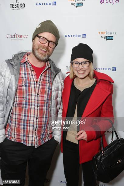 Actors Rainn Wilson and Alison Pill attend ChefDance presented by Bravo's Top Chef Sponsored by SUJA Juices El Tesoro Tequila United Airlines on...