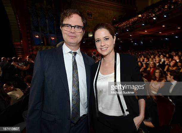 Actors Rainn Wilson and Jenna Fischer attend the CNN Heroes An All Star Tribute at The Shrine Auditorium on December 2 2012 in Los Angeles California...