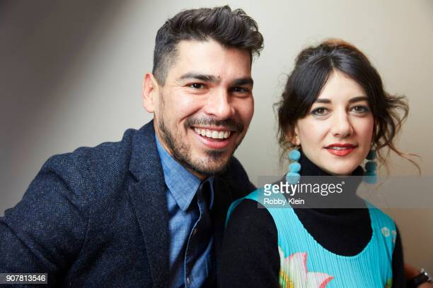 Actors Raúl Castillo and Sheila Vand from the film 'Tyrel' pose for a portrait in the YouTube x Getty Images Portrait Studio at 2018 Sundance Film...