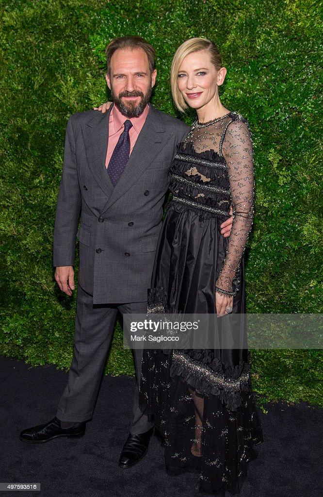 Actors Ralph Fiennes (L) and Cate Blanchett attend the 8th Annual Museum Of Modern Art Film Benefit Honoring Cate Blanchett on November 17, 2015 in New York City.