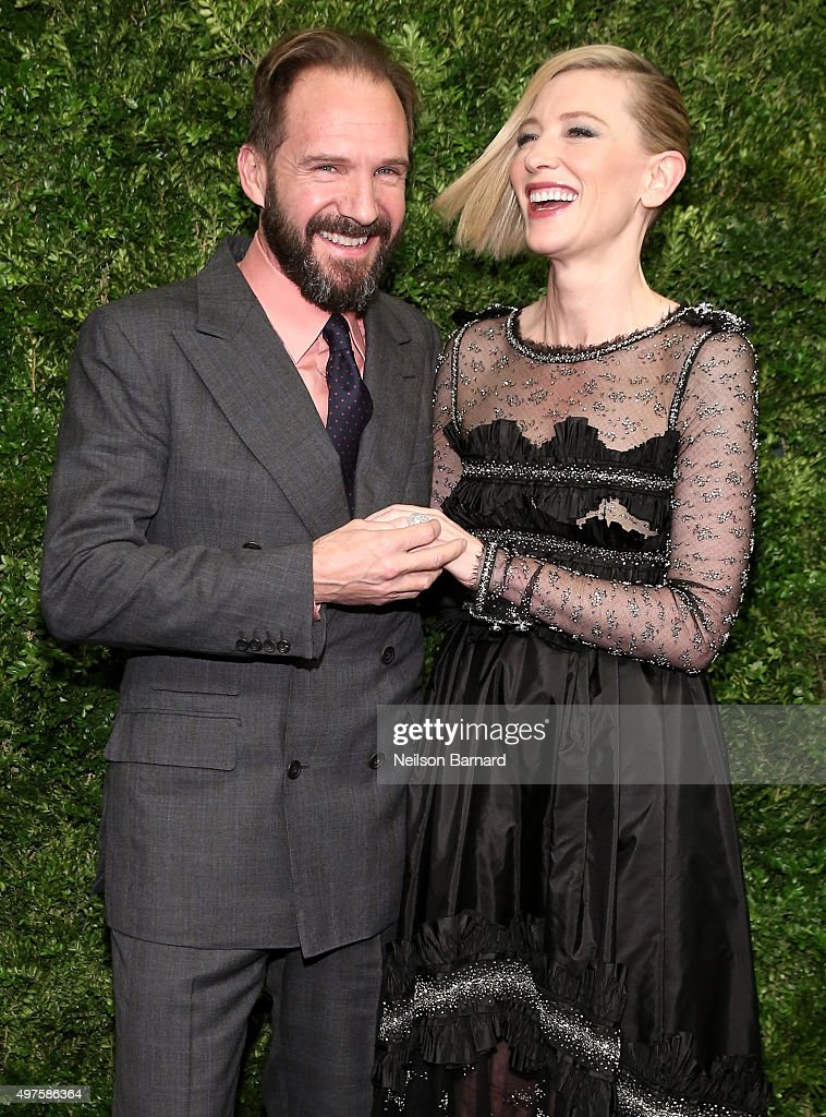 Actors Ralph Fiennes (L) and Cate Blanchett attend the Museum of Modern Art's 8th Annual Film Benefit Honoring Cate Blanchett at the Museum of Modern Art on November 17, 2015 in New York City.