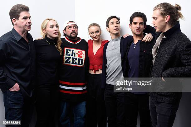 Actors Ralph Garman Harley Quinn Smith filmmaker Kevin Smith actors LilyRose Melody Depp Justin Long Tyler Posey and Austin Butler from the film...