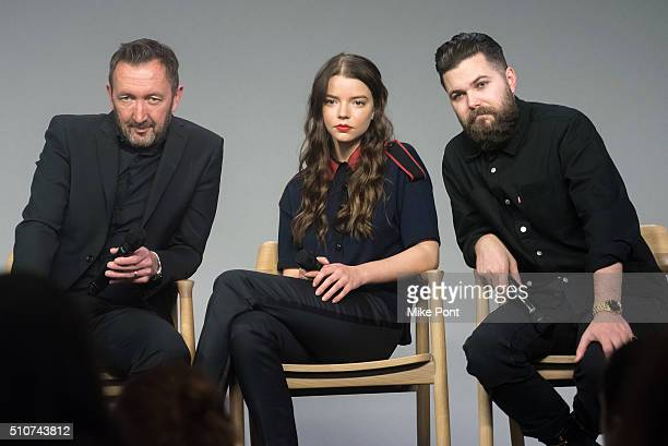 Actors Ralph Ineson and Anya TaylorJoy and director Robert Eggers discuss the film 'The Witch' at Apple Store Soho on February 16 2016 in New York...