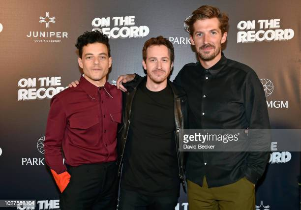 Actors Rami Malek Joe Mazzello and Gwilym Lee attend Queen Adam Lambert PostShow VIP reception at Juniper Cocktail Lounge presented by On The Record...